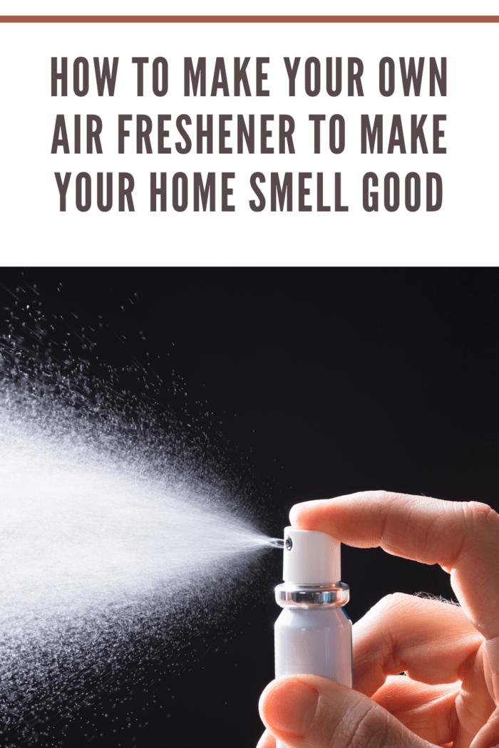 homemade air freshener being sprayed