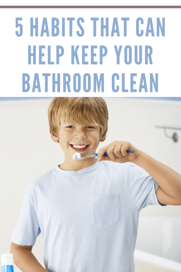 If you brush your teeth with your head facing forward instead of towards the sink, you'll likely see small toothpaste stains on the mirror all the time.
