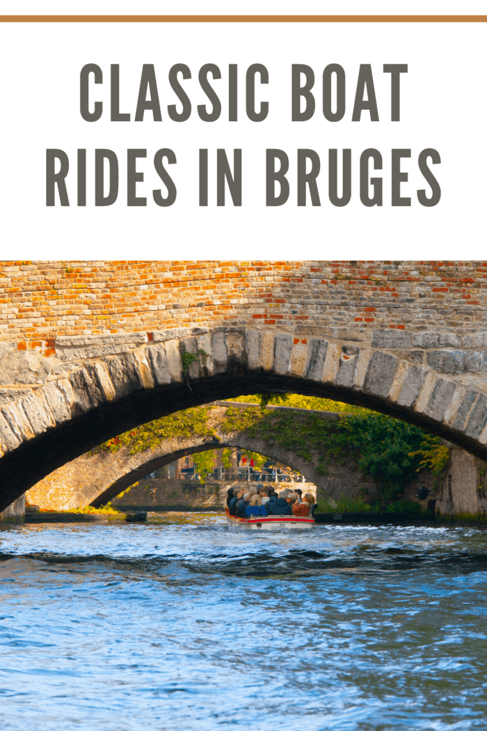 The best way to explore Bruges city in Belgium is by taking a boat.