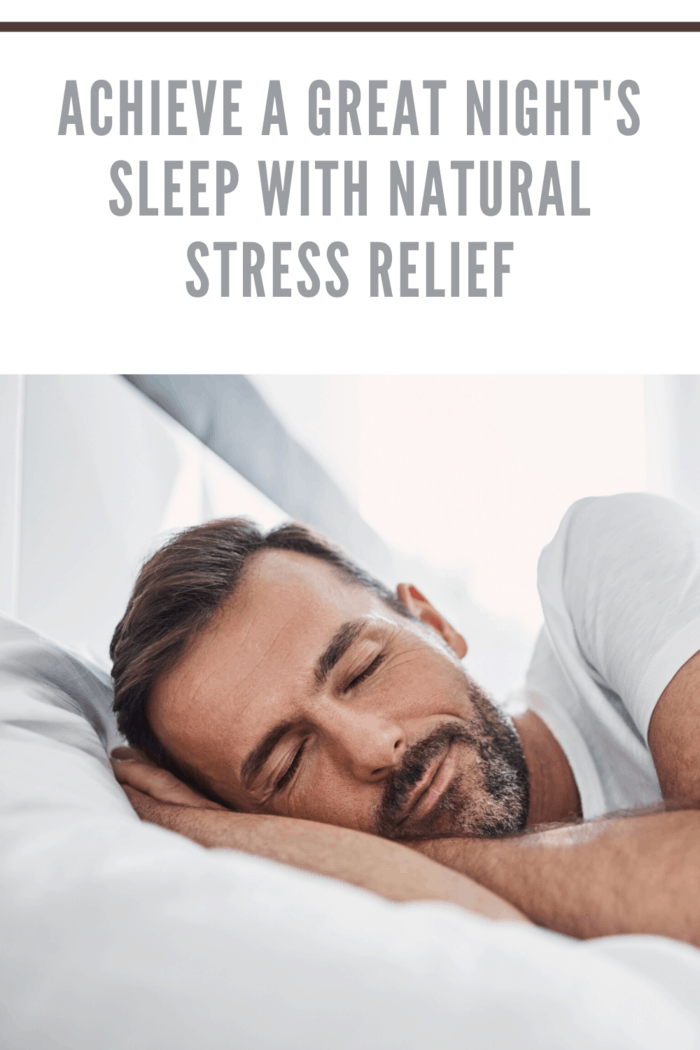 man getting a good night's sleep