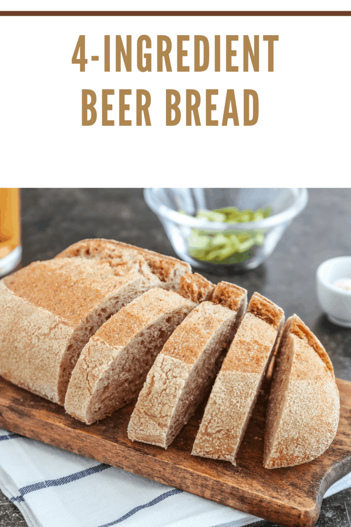 Homemade beer bread with just 4-ingredients.