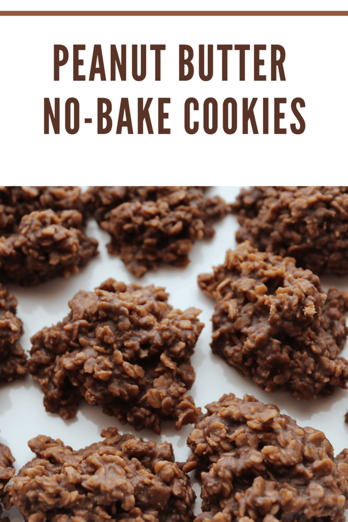 These easy no-bake peanut butter cookies are incredibly simple and can be made in no time without heating up the kitchen, making these a favorite summer cookie!