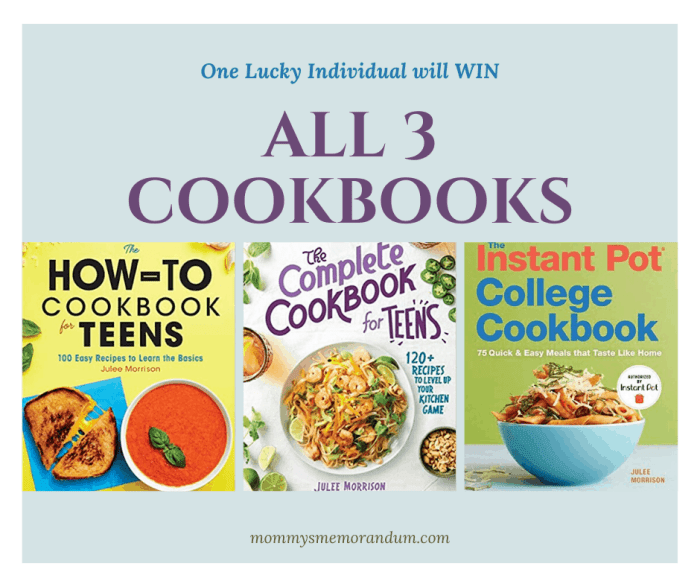 win all 3 cookbooks