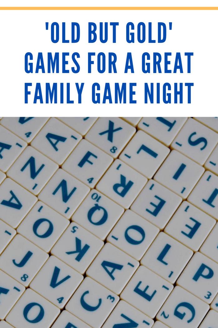 letter tiles for family game night