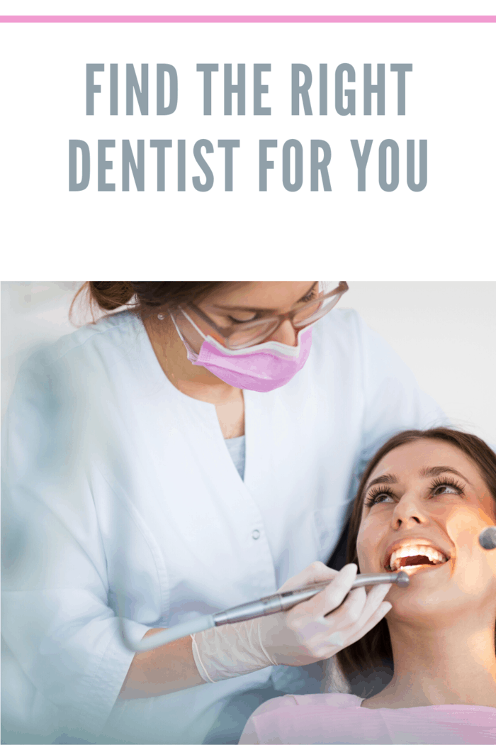 Dentist and patient in dentist office