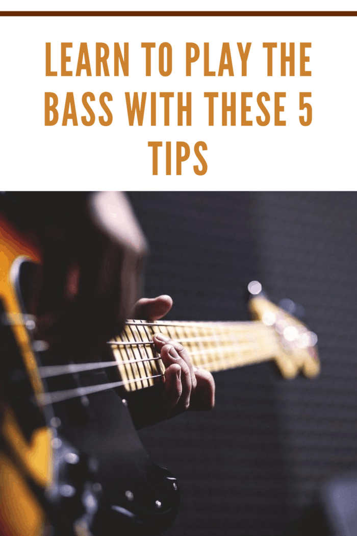 person playing the bass