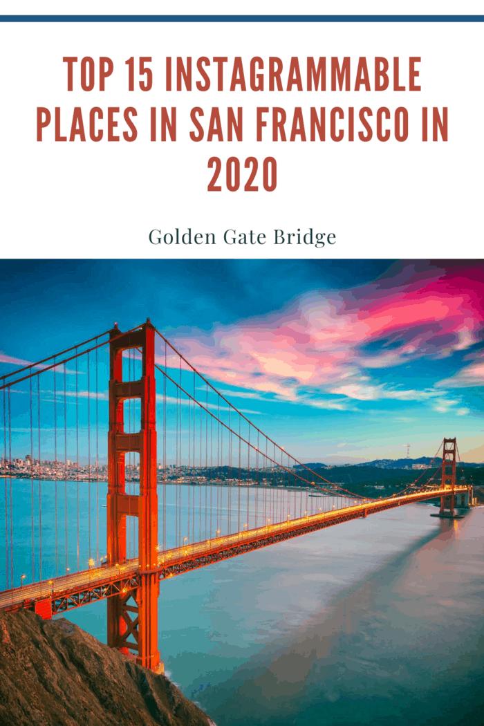 San Francisco from San Francisco Headlands and Golden Gate bridge