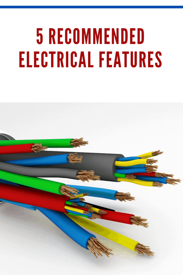 insulated electric wires as an electrical features
