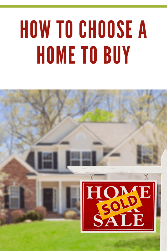 how to choose a home to buy Sold Home For Sale Real Estate Sign and Beautiful New House.