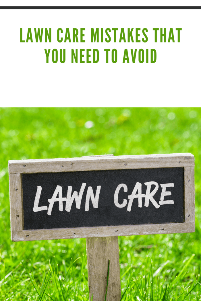 Sign on a green lawn - Lawn care
