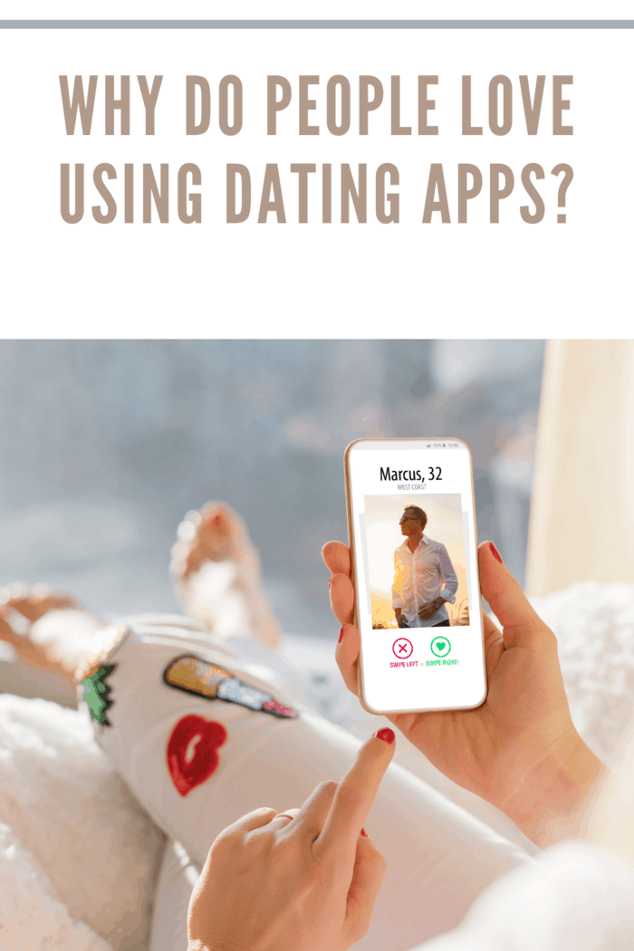 Unrecognizable female using dating app on mobile phone