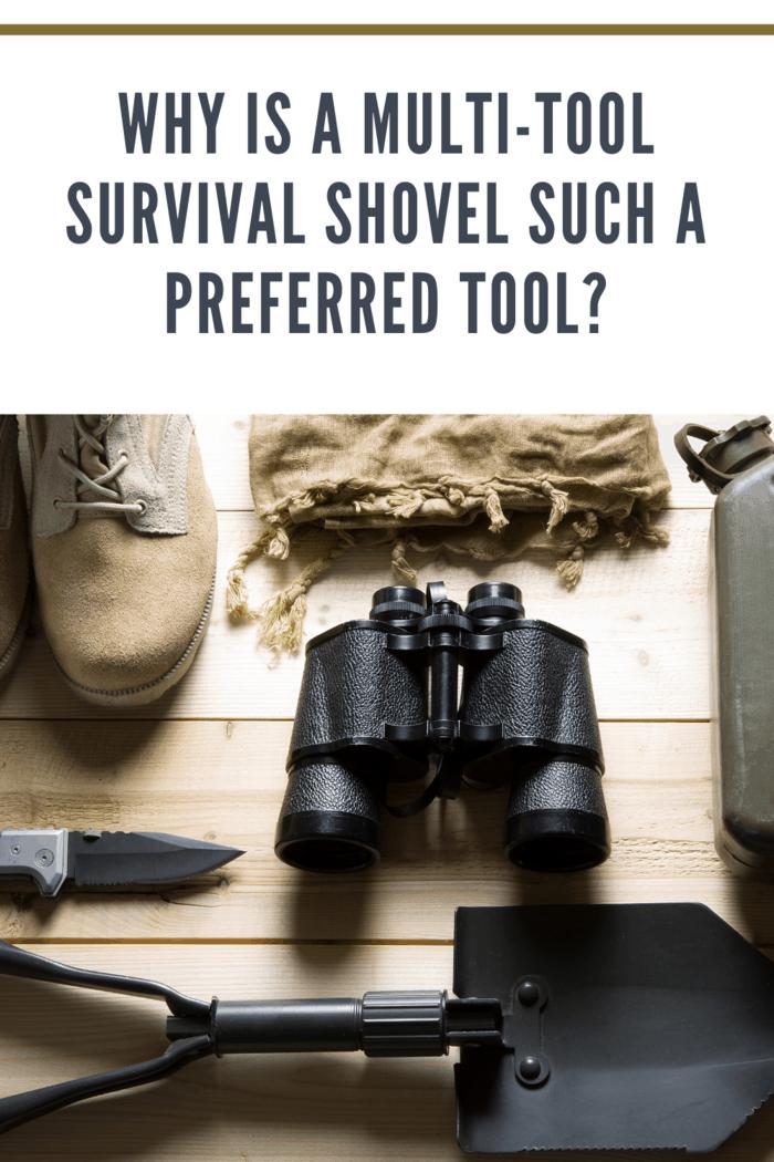 survial kit with survival shovel