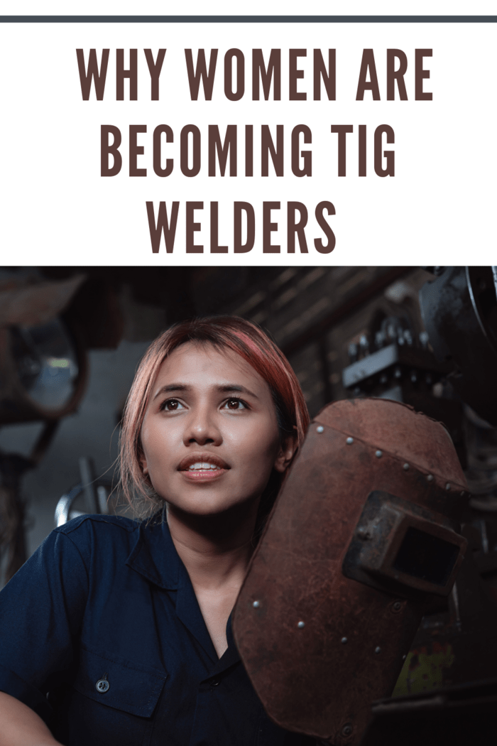 woman tig welder