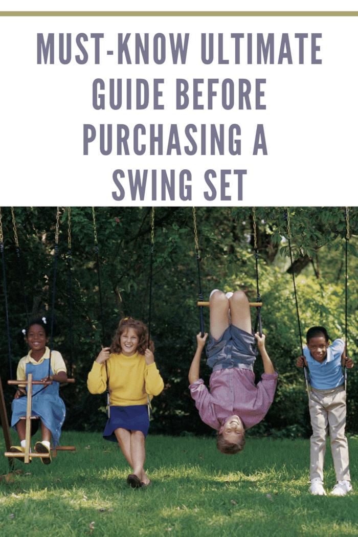 Children playing on swing set