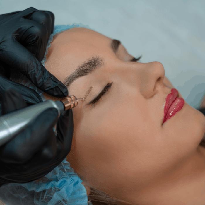 Fibroblast, plasma lifting procedure women eyelid wrinkles lifting