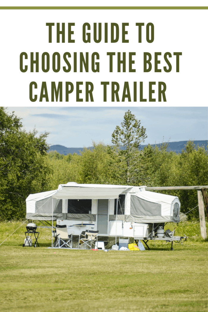 trailer home camping on green meadow