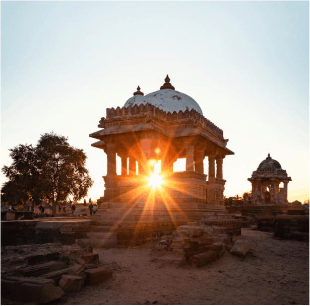 Landscape and activities of locals in Kutch Gujarat India
