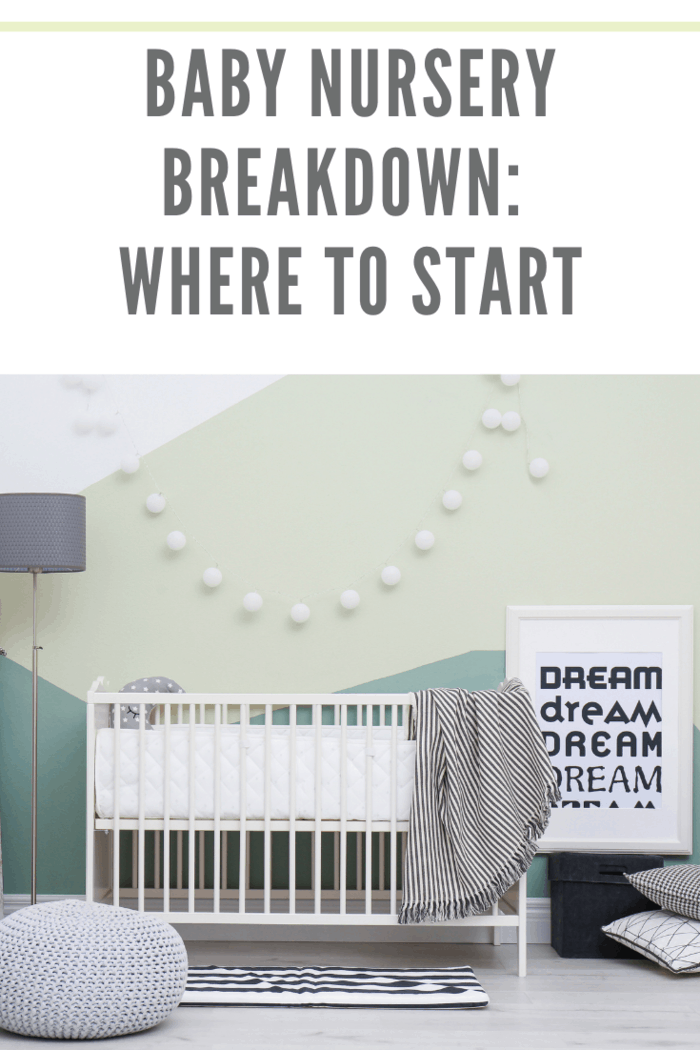 Beautiful interior of baby room with crib after using Baby Nursery Breakdown: where to start tips