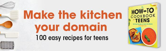 how to cookbook for teens by julee morrison header
