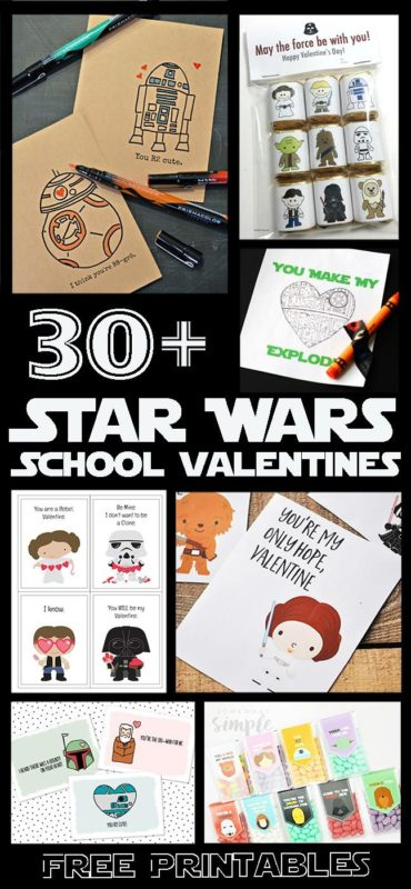 Free Printable 30 Star Wars Inspired Valentines