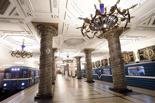 Travel through Russia via the metro
