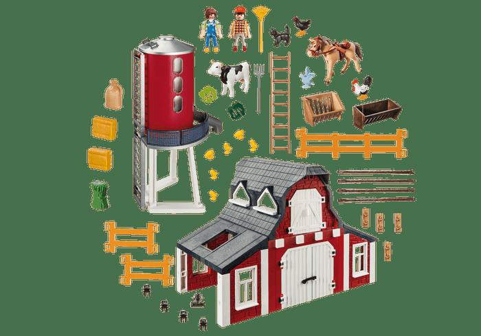 playmobil 9315 barn and silo