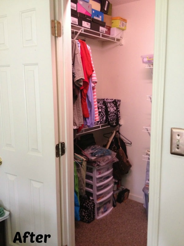 After inside my closet