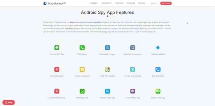 Android spy app features overview