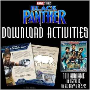 black panther activity sheets
