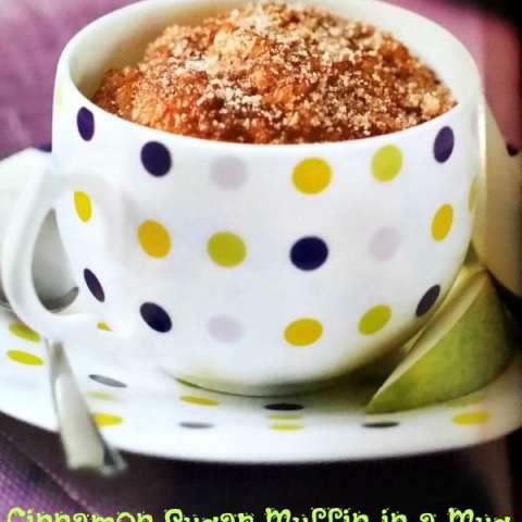 Cinnamon Sugar Muffin in a Mug #recipe