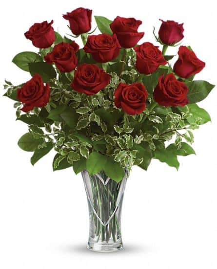 red roses from teleflora