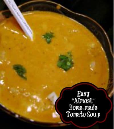 "Easy ""Almost' Homemade Tomato Soup Recipe"
