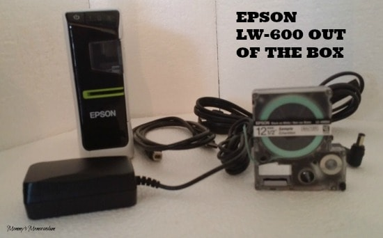Epson LW-600P Out of the box