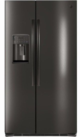ge black stainless steel side by side refrigerator