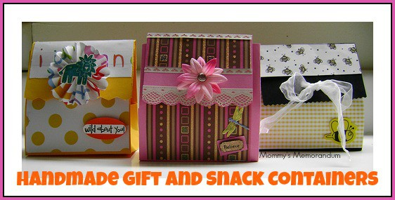 Handmade Gift and snack containers #Crafts #DIY #Tutorial
