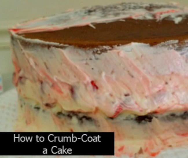 How to crumb coat a cake tutorial cake decorating