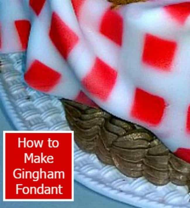 How to make gingham fondant tutorial diy cake decorating