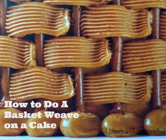 How to do a basket weave on a cake