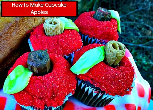 How to make cupcake apples tutorial #DIY #CakeDecorating