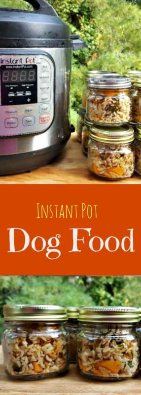 Keep your dog's tail wagging with this Instant Pot Dog Food Recipe. It's easy to make in just 30-minutes and my dog's love the taste! #diy, #dogfood, #homemadedogfood, #instantpotdogfood, #pressurecookerdogfood, #makeyourowndogfood, #dog #pets