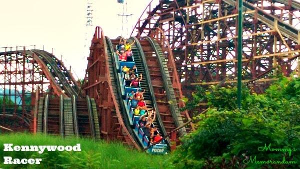 Kennywood Racer wooden coaster #KWFamilyFun