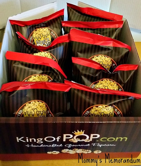 King of Pop individual bags of holiday sampler