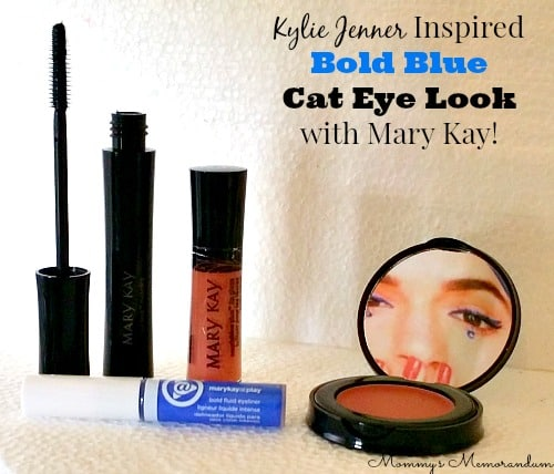 Kylie Jenner Inspired Bold Blue Cat Eye Look