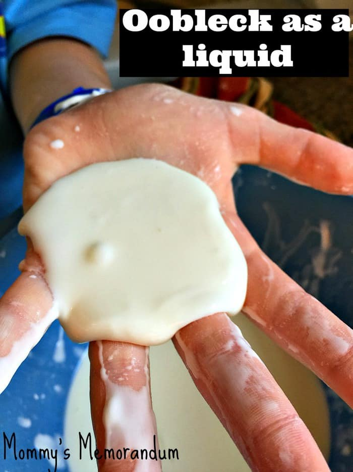 image Oobleck as a liquid