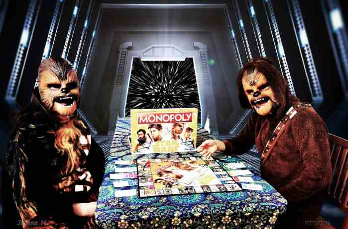 Monopoly Star Wars Edition Solo: A Star Wars Story Movie and Hasbro Game Night