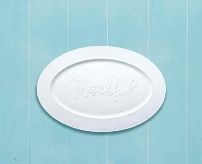 precious moments bountiful blessings thankful serving platter