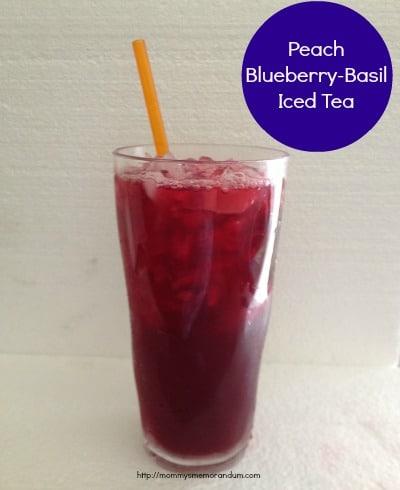 Peach Blueberry-Basil Iced Tea Recipe