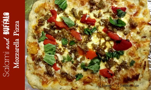 Salami and Buffalo Mozzarella Pizza #Recipe