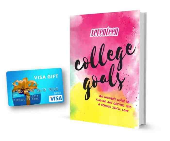 Seventeen College Goals Reward the Work Prize Pack