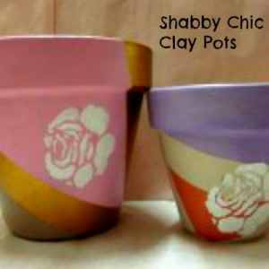 Shabby Chic Clay Pot #Tutorial #DIY